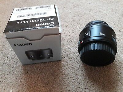 Canon EF 50mm F/1.8 II prime Lens -boxed- with Kenko 52mm UV Filter & Dust Caps