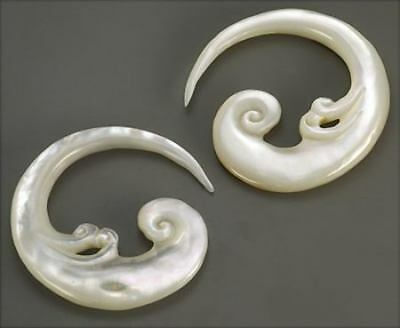 Price Per 1 Mother of Pearl Spiral Hanger Cheater Earring