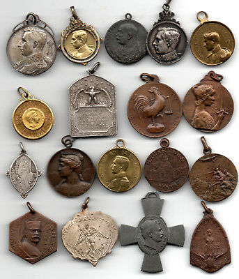 Belgium / Europe A Collection Of18  Medallets 1914-18