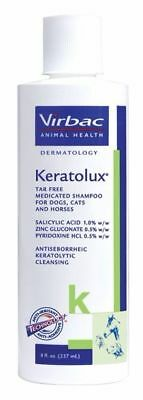 Keratolux Virbac Medicated shampoo for Dogs Cats and Horses 8OZ