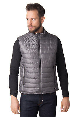 BACON Quilted Gilet Size M Padded Full Zip Funnel Neck Made in Italy RRP €200