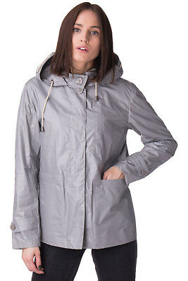8 Windbreaker Jacket Size M Coated Taped Seams Popper Front Hooded RRP €220