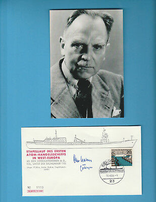Otto Hahn (Nobel Prize Chemistry 1944) Signed German First Day Cover