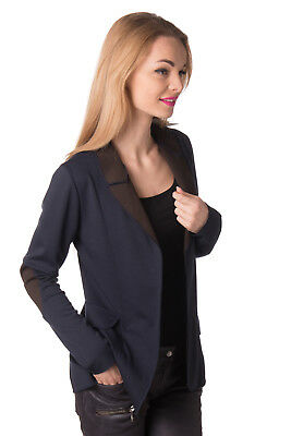 GIO.TTA Blazer Jacket Size M Unlined Slit Back Open Front Made in Italy RRP €254