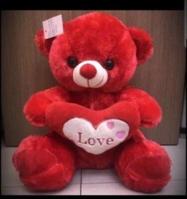 Medium size 40cm  Red Cute Teddy Bear I Love You Valentines Day Gift Birthday