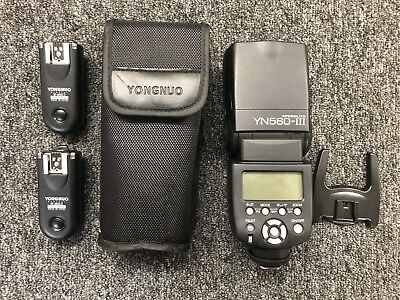 YONGNUO Speedlite YN-560-III Flash With (2) RF-603C II Transmitter / Receivers