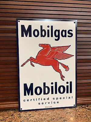 Mobilgas MOBILOIL Service Station Gas pegasus oil gasoline advertising sign Gas