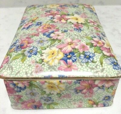 "Vintage Chintz ""Marion"" Royal Winton Candy Trinket Box+Lid /2pcs Grimwades"