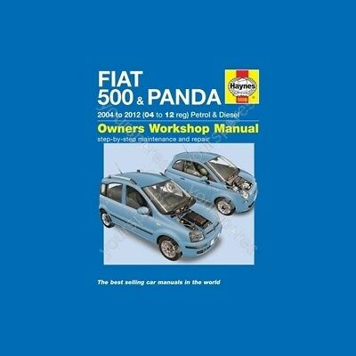 Haynes Fiat 500 & Panda (04 - 12) 53 to 61 Reg - Car Manual