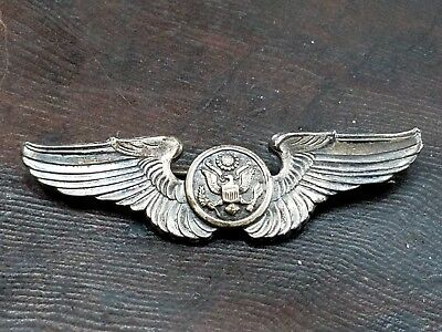 ORIG WWII US ARMY AIR CORPS STERLING AIRCREW WINGS WW2 WORLD WAR 2 military 3""