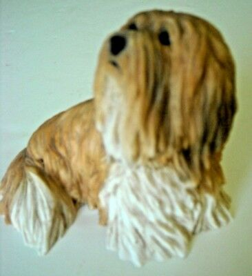 Lhasa Apso Sitting #60236-869-Gorgeous Alabaster/Resin NEW  Excellent Condition