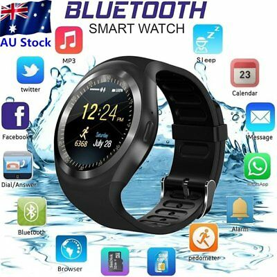 Y1 Bluetooth Sport Watch Fitness Smart Tracker Remote Control Support SIMN SJ