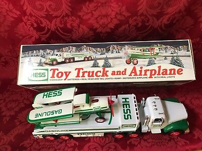 "2002 Collectible HESS ""TOY TRUCK AND AIRPLANE"" NEW IN BOX-RARE WHITE-NO YELLOW"