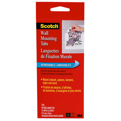 3M Company - Wall Mounting Tabs-48 Pkg 1/2 X 3/4