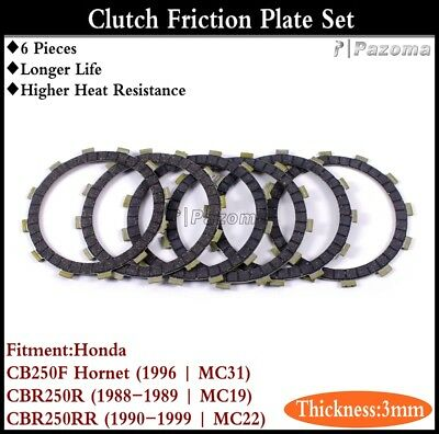 6Pcs Motorcycle Clutch Friction Plate Disc For Honda CB250F Hornet 1996 | MC31