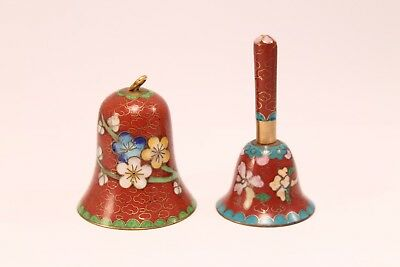 Two Chinese Cloisonne Mini Bells
