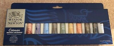 Winsor and Newton Cotman Watercolour Tube set of 12 x 8ml