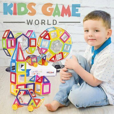 New Magnetic Toy Building Tiles Set – Mag-Blocks | Extra Large Pack –76 PCS