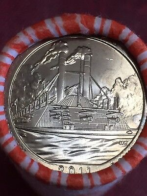 2011 D Vicksburg Quarter America the Beautiful National Park Unc Tails/tail Roll