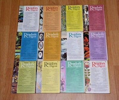 Vintage UK Readers Digest Magazines x12. January to December 1970