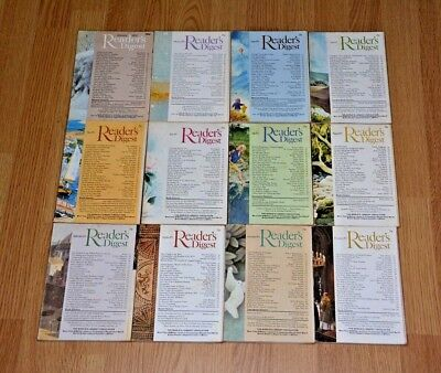 Vintage UK Readers Digest Magazines x12. January to December 1972