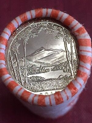 2013 P White Mountain NH Quarter National Park ATB Unc Tails/tails Roll