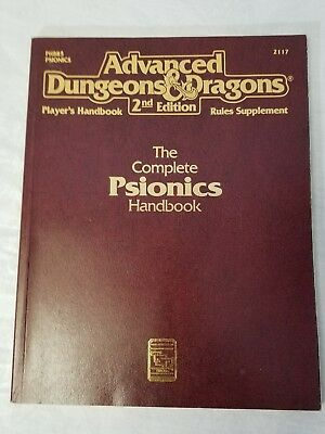 Advanced Dungeons & Dragons 2ND Edition: The Complete Psionics Handbook TSR 2117
