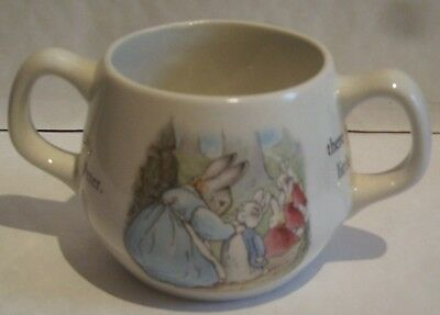 WEDGWOOD PETER RABBIT CHILDS MUG with TWO HANDLES - BEATRIX POTTER