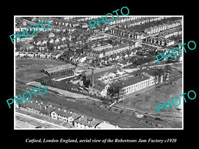 Old Large Historic Photo Of Catford London England, Aerial View Jam Factory 1920