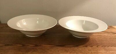 Marks And Spencer M&s Maxim White Porcelain Cereal Bowls X2.