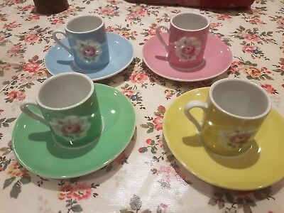 Cath Kidston espresso cups and saucers