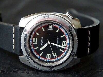 Vintage Incitus Bole [France] Diver Automatic FE Cal. 4611 with Date Watch Uhr
