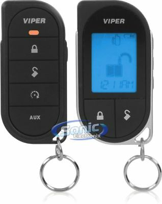 New! Viper Responder LC3 4706V 2-Way LCD Car Remote Start Keyless Entry System