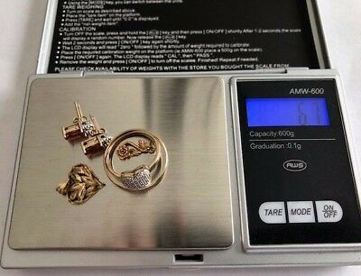 10Kt Yellow Gold Scrap Or Wear Lot Total Weight 6.7 Grams Earrings Rings Pendant