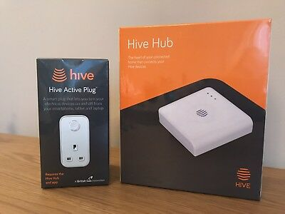 Hive Hub & Active Plug. New Sealed Unregistered. RRP £119