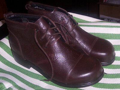 9e37114f7c333 DANSKO LACE UP Ankle Boots Booties Size Eu 41 U.s. 10 10.5 Brown Leather  Nwob