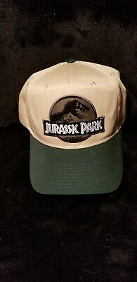 Jurassic Park Movie Logo Forest Green Sci fi Patch Khaki Green Snapback Cap  Hat eb9d645dda50