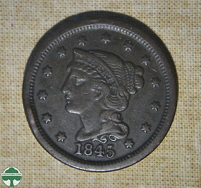 1845 Braided Hair - One Cent - Very Fine Details