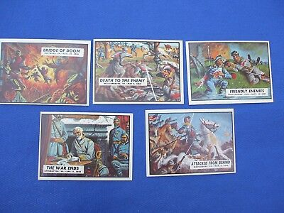 Civil war news 5 card lot sharp borders, corners, nice color # 18-29-52-85-87
