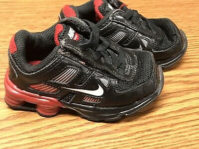 96a148d8be92c2 Nike 407774 001 Shox Turbo 11 Black Red Toddler Athletic Running Shoes Sz 6C