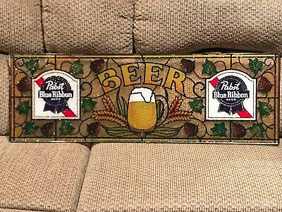 Acrylic stained glass look Pabst Blue Ribbon Bar Sign