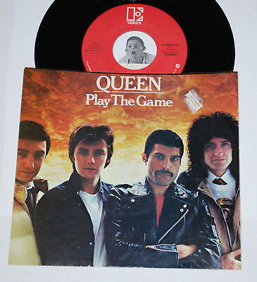QUEEN 45~Play the Game / A Human Body~CLEAN VINYL w/ Pic Sleeve Elektra