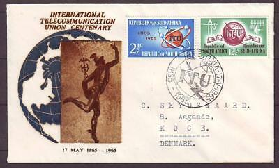 z9284/ South Africa Telecommunication FDC Cover t/Denmark 1965