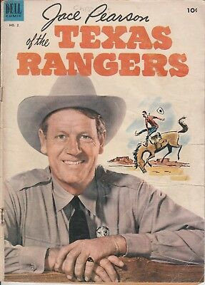 1953  # 2 JACE PEARSON OF THE TEXAS RANGERS Western Dell Comic Book Golden Age