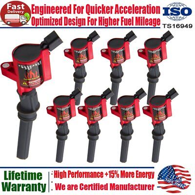 8 Pack Ignition Coils Plug SP479 For Ford F150 F250 4.6/5.4L Lincoln DG508 FD503