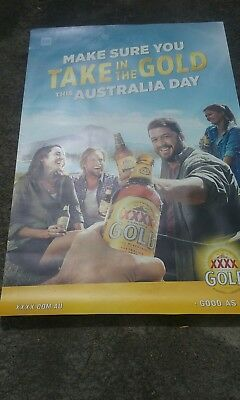 Australia day Four x BANNER Sign Beer sign mancave poster