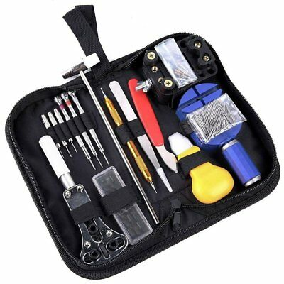 144P Watch Repair Tool Kit Adjustable Back Case Opener Spring Bar Remover Lot E5