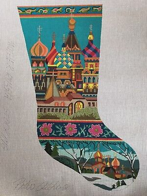 """Peter Ashe """"Mother Russia"""" Christmas Stocking Needlepoint 18ct Beautiful"""