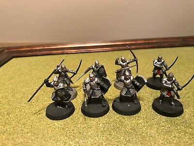 Games Workshop LOTR Lord of the rings Warriors of Minas Tirith x 8 painted