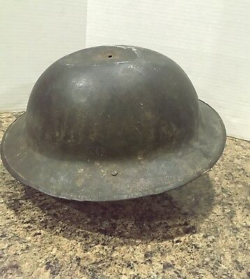 WW1 British Steel Helmet With Complete Liner One Small Dent FKS Trench